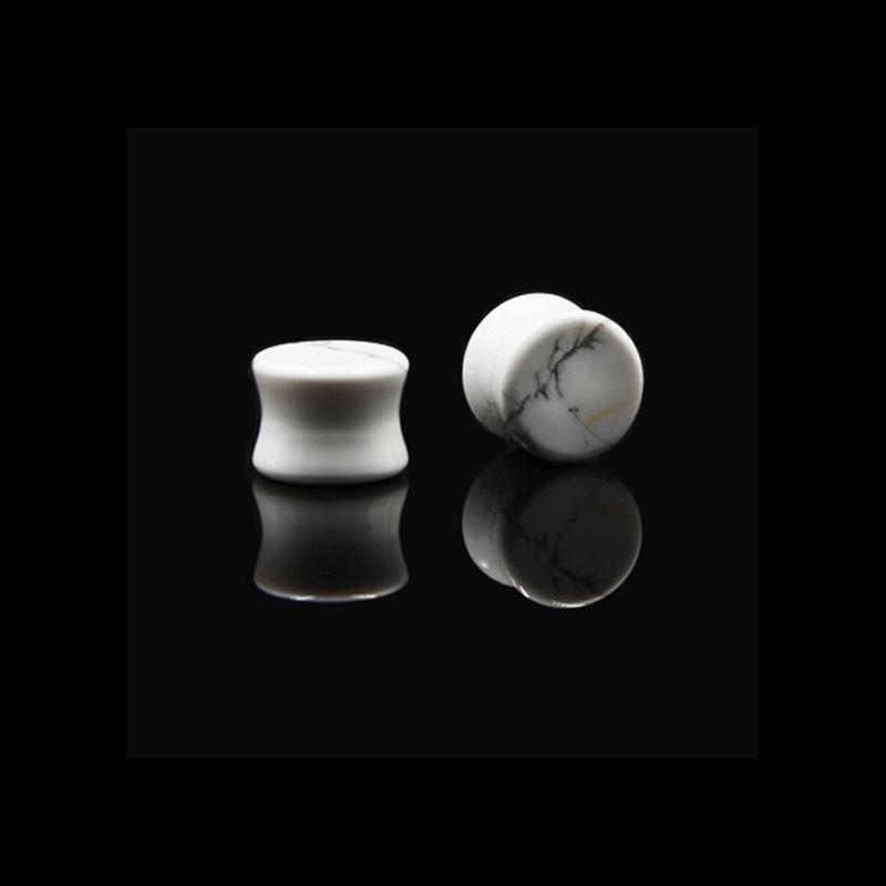Plug opal blanco para dilataciones