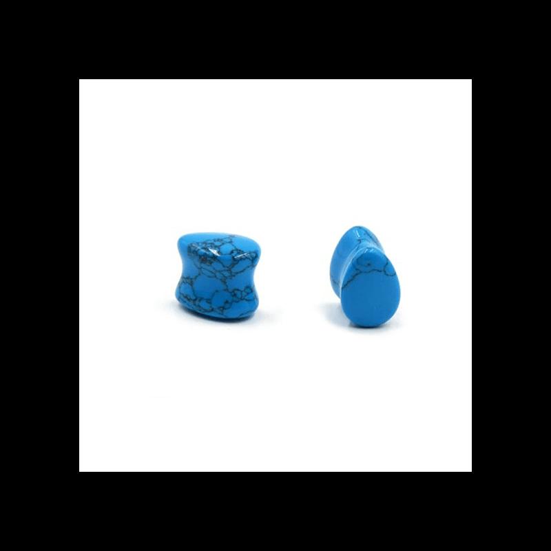 Plug de piedra en forma de gota para dilataciones