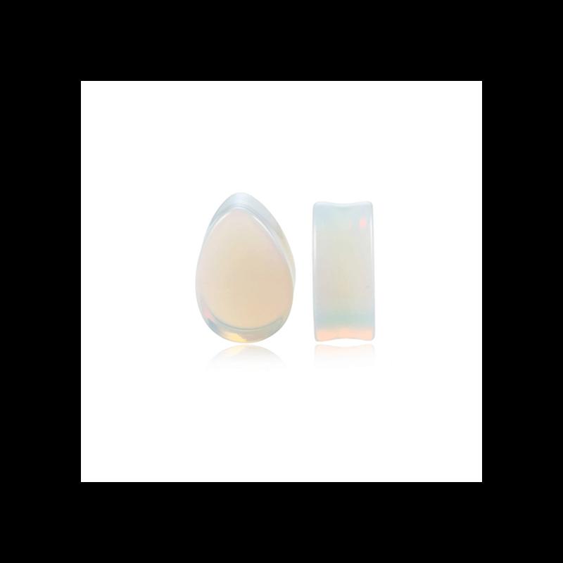 Plug de opalita en forma de gota para dilataciones